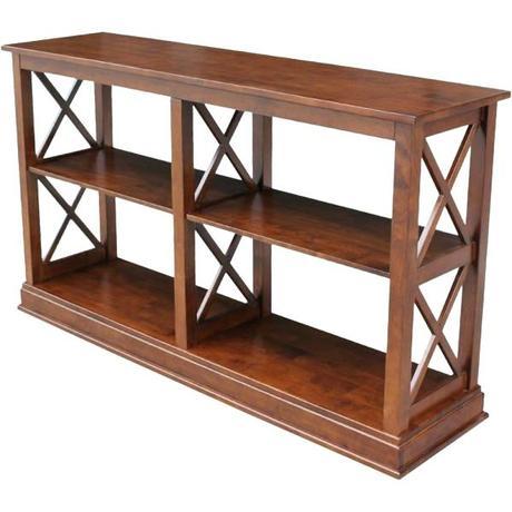 espresso sofa table espresso occasional console sofa table bookshelf