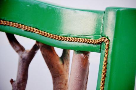 DIY chaise chaine or bois vert - blog déco - clem around the corner