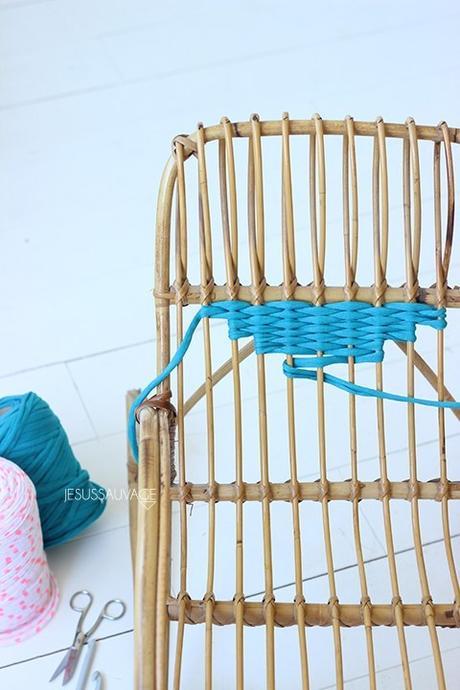 DIY chaise rotin dossier bricolage - blog déco - clem around the corner