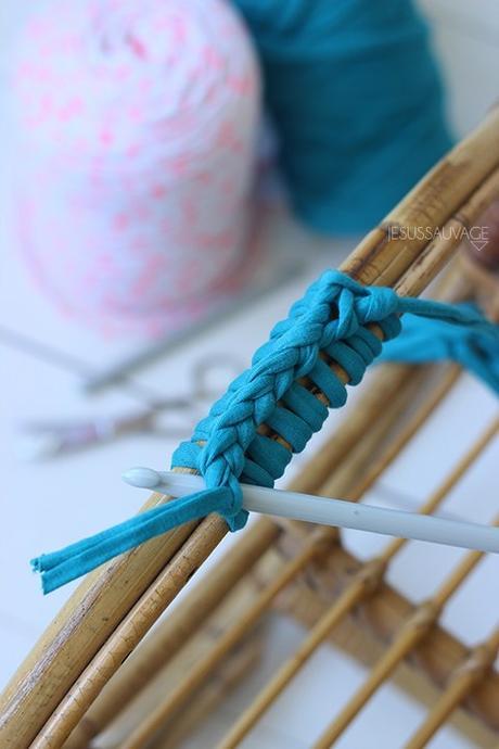 DIY chaise crochet tricot accoudoire - blog déco - clem around the corner