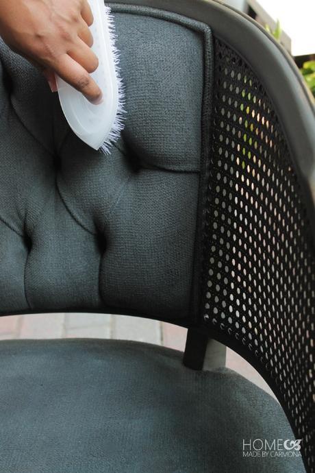 DIY chaise gris noir salon - blog déco - clem around the corner
