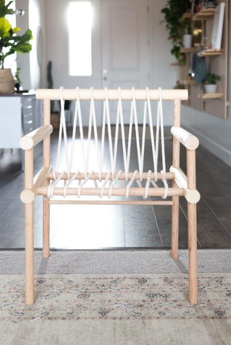DIY chaise bois corde maison - blog déco - clem around the corner