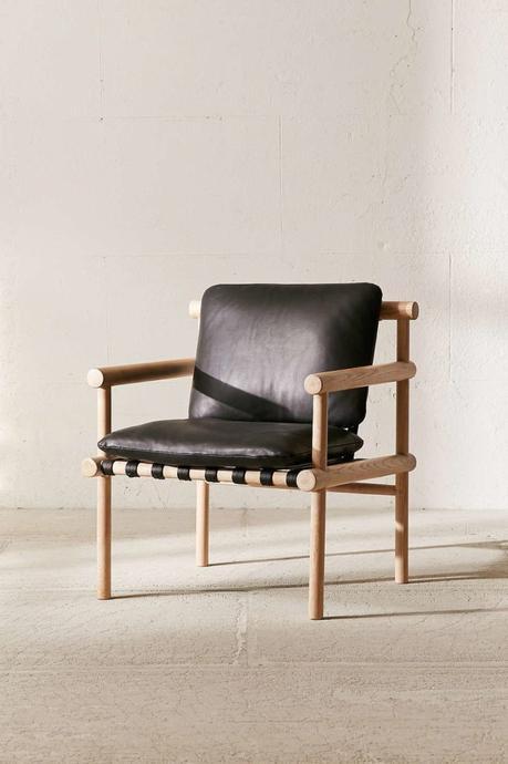 DIY chaise bois cuir noire style rustique industriel - blog déco - clem around the corner
