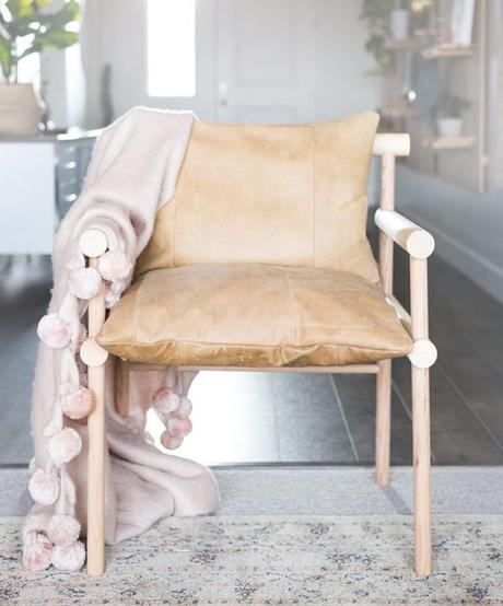 DIY chaise bois cuir marron style rustique - blog déco - clem around the corner