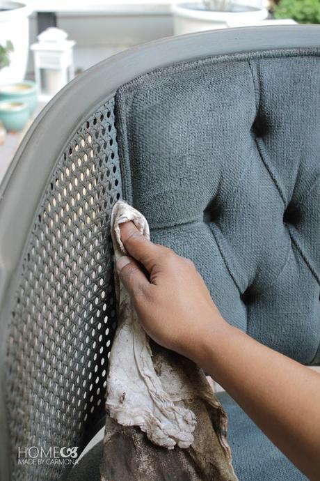 DIY chaise serviette blanche - blog déco - clem around the corner