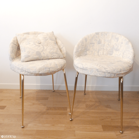 DIY chaise coussin or blan nuage salon - blog déco - clem around the corner