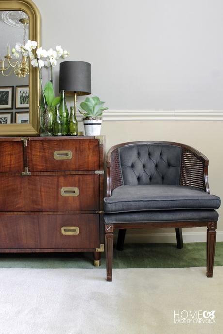 DIY chaise salon sobre noir - blog déco - clem around the corner