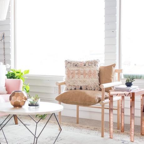 DIY chaise salon style bohème pastel - blog déco - clem around the corner