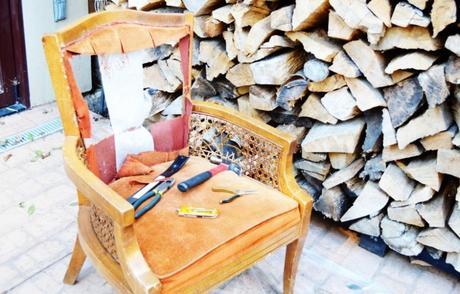DIY chaise mousse coussin marron - blog déco - clem around the corner