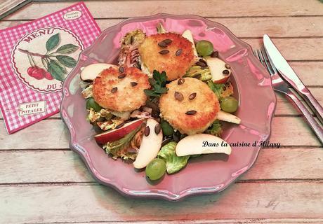 Salade fruitée au Cabécou croustillant