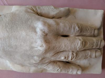 Abguss der rechten Hand von Richard Wagner - Museum Richard Wagner Tribschen.