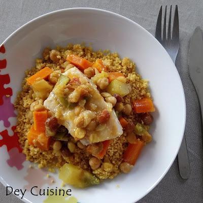 Couscous de poisson, courgette & carotte