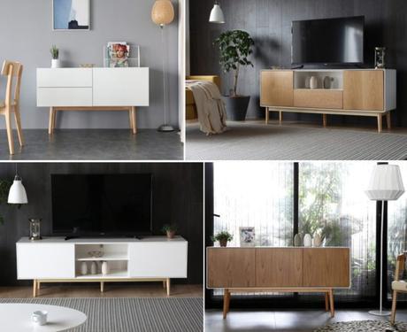 meuble buffet scandinave conseil agencer aménager coin tv