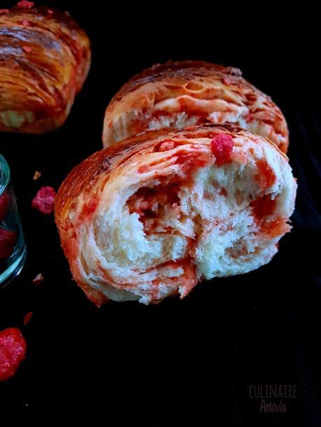 Brioche moelleuse aux pralines roses