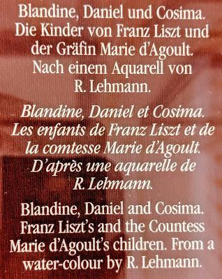 Les enfants de Franz Liszt et de Marie d'Agoult