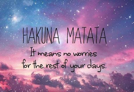 « Hakuna matata » = Il n'y a pas de problème