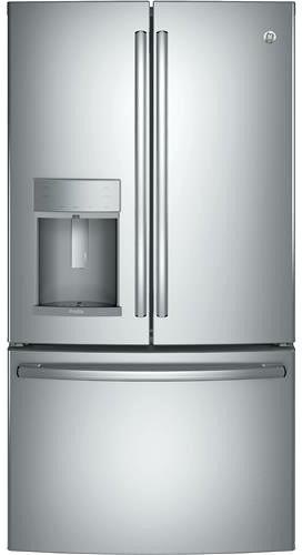 ge profile counter depth refrigerator ge profile stainless counter depth side by side refrigerator pzs25ksebfss