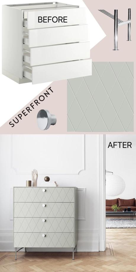 ikea hack commode superfront avis avant après - blog déco design - clem around the corner