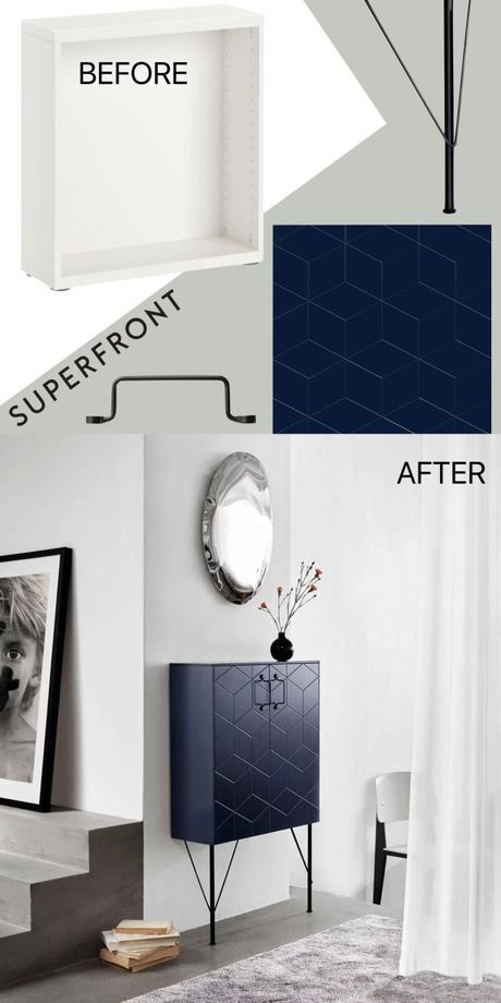 ikea hack besta superfront avis avant après - blog déco design - clem around the corner