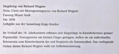 Siegelring von Richard Wagner / Chevalière de Wagner
