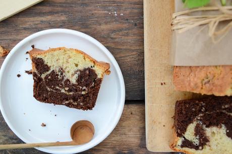 Marbré vanille, chocolat et pépites de nougatine