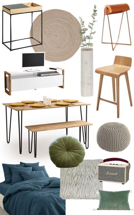 comment bien meubler studio 25m2 - blog déco - clem around the corner