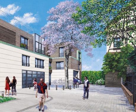 dessin plan 3d réalisation avant après cogedim projection construction neuf achat