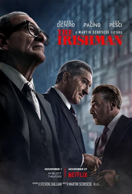 Affiche US pour The Irishman de Martin Scorsese