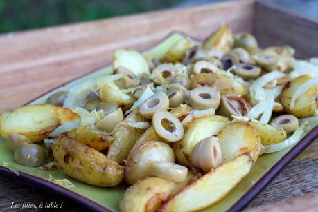 Pommes de terre sautées au fenouil et olives