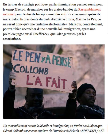 #Immigration : Le Pen en rêvait, Macron le fait