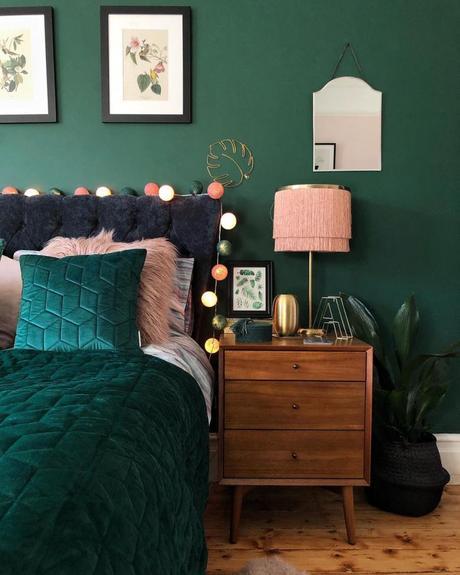 chambre rose et verte décoration chambre couleurs - blog déco - clem around the corner
