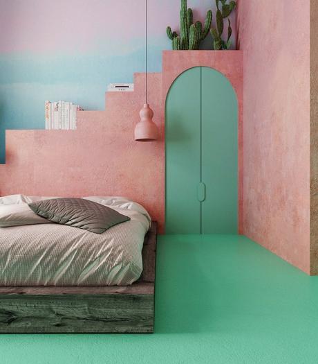 Chambre rose et verte : quelles nuances associer et comment ...