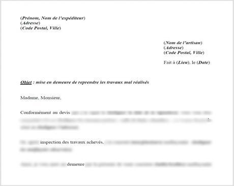 lettre de réclamation d'argent - Modele de CV