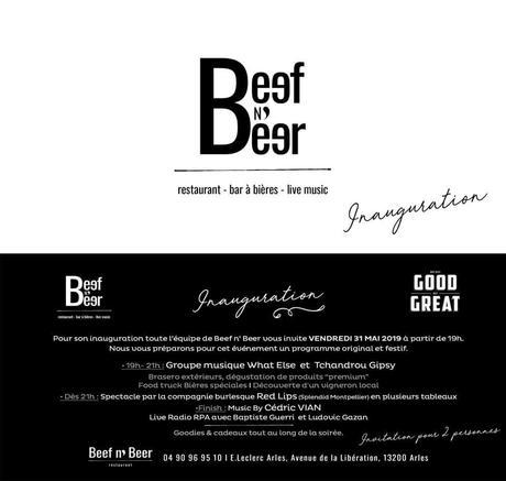 Soirée Inauguration Restaurant BEEF N BEER à Arles