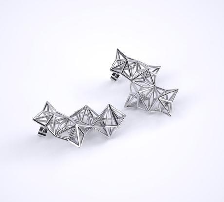 line pierron boucles d'oreilles en argent design architecture - blog déco - clem around the corner