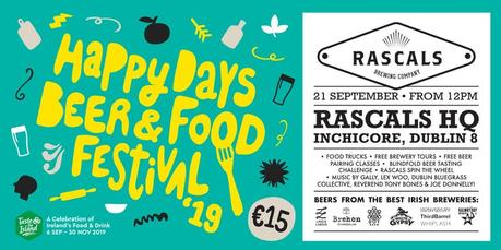 Rascals Brewing Co - Happy Days, festival de bière et de nourriture, septembre 2019, Dublin