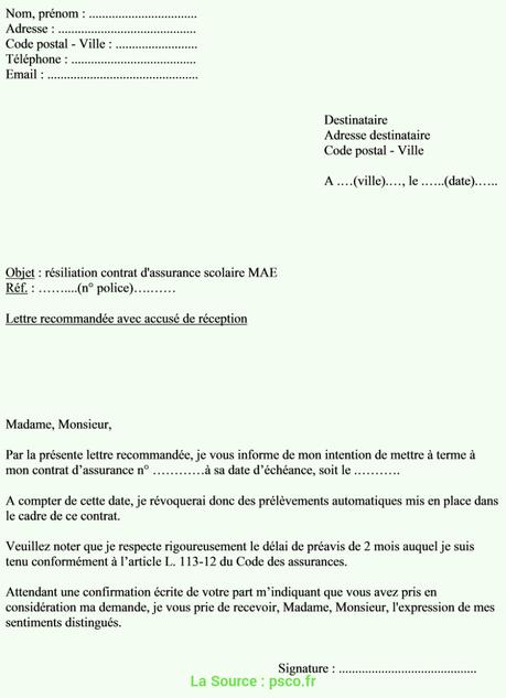 Meilleur Exemple De Lettre De Radiation Modèle De Lettre De ...