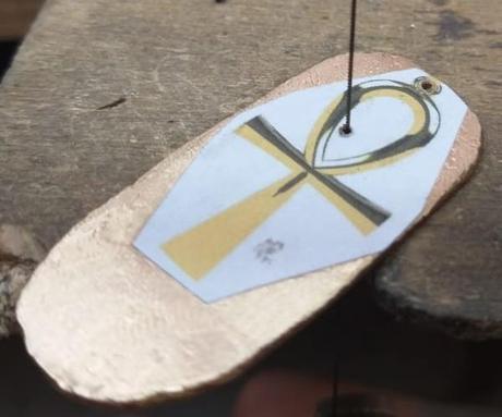 pendentif croix de vie égyptien en or rose 18 carats