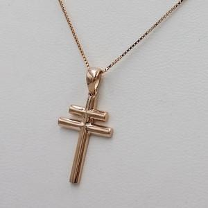 croix lorraine or rose 18 carats