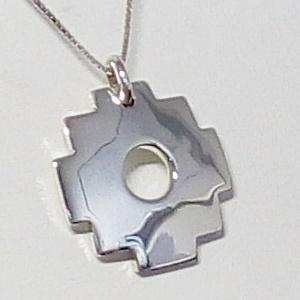 croix chakana or blanc 18 carats