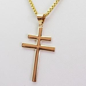 croix de lorraine or jaune 18 carats
