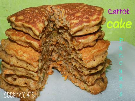 CARROT CAKE PANCAKES (sans gluten, sans lait)