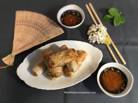 Nems croustillants au poulet recette facile et méthode de pliage cuisson sans huile au companion thermomix ou sans robot