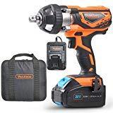 VonHaus Clé à chocs sans fil Max 20 V - Boulonneuse broche carrée 1/2'', 240 N·m - Batterie, chargeur et sac à outils inclus (240Nm)