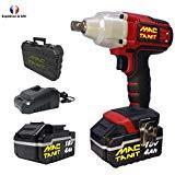 Puissante Clé à chocs, Boulonneuse à chocs sans fil 18V MAC-TANIT, 350 N-m + 2 batteries 4Ah et Chargeur rapide 1 h, 0 à 3500 ipm MAC-TANIT
