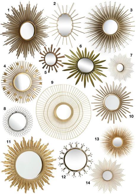 miroir soleil chaty vallauris laiton - blog déco - clem around the corner