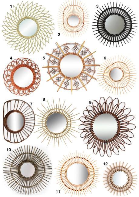 miroir soleil chaty vallauris rotin - blog déco - clem around the corner