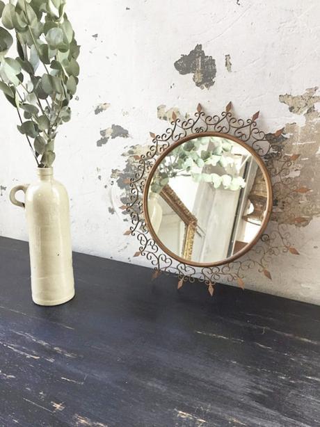 miroir soleil chaty vallauris métal eucalyptus décoration - blog déco - clem around the corner