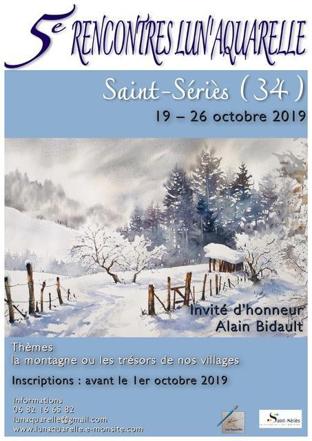 5èmes Rencontres Lun'aquarelle 2019