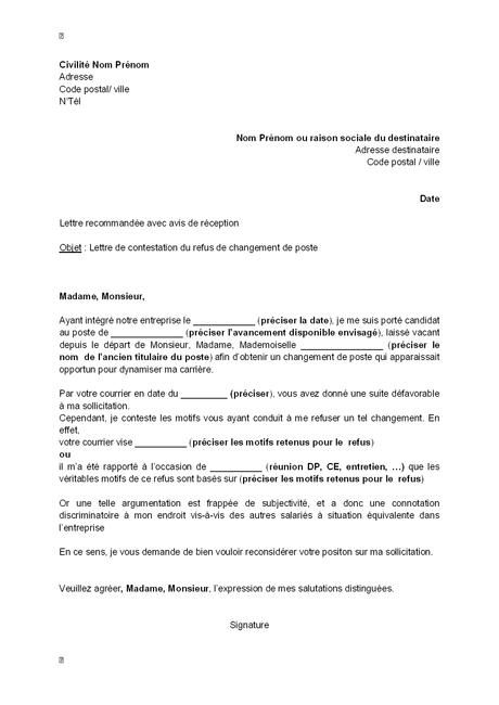 Lettre De Changement De Poste Pour Raison De Santé Paperblog